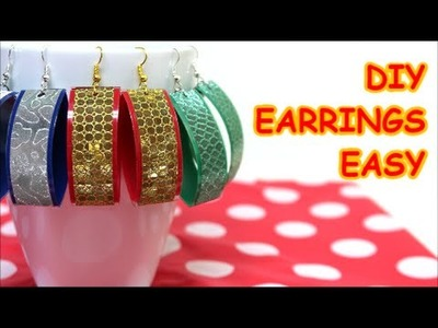 Recycled Jewelry Ideas Easy Made Earrings from Plastic Bottle and Tape Recycled Bottles Crafts