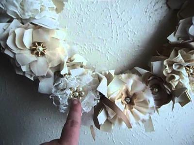 Shabby Chic Wreath- Handmade for my Grandmother