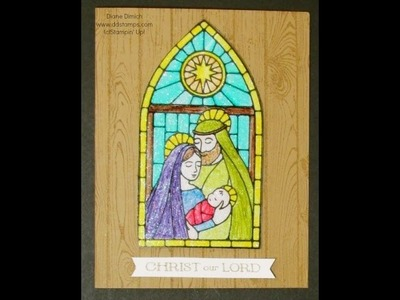 Using Stampin' Up!'s Gentle Peace, Blendabilities and Window sheets to make faux Stain Glass