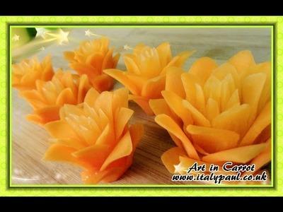 Art In Carrot Show - Vegetable Carving Carrot Flowers - Carrot Roses Garnish