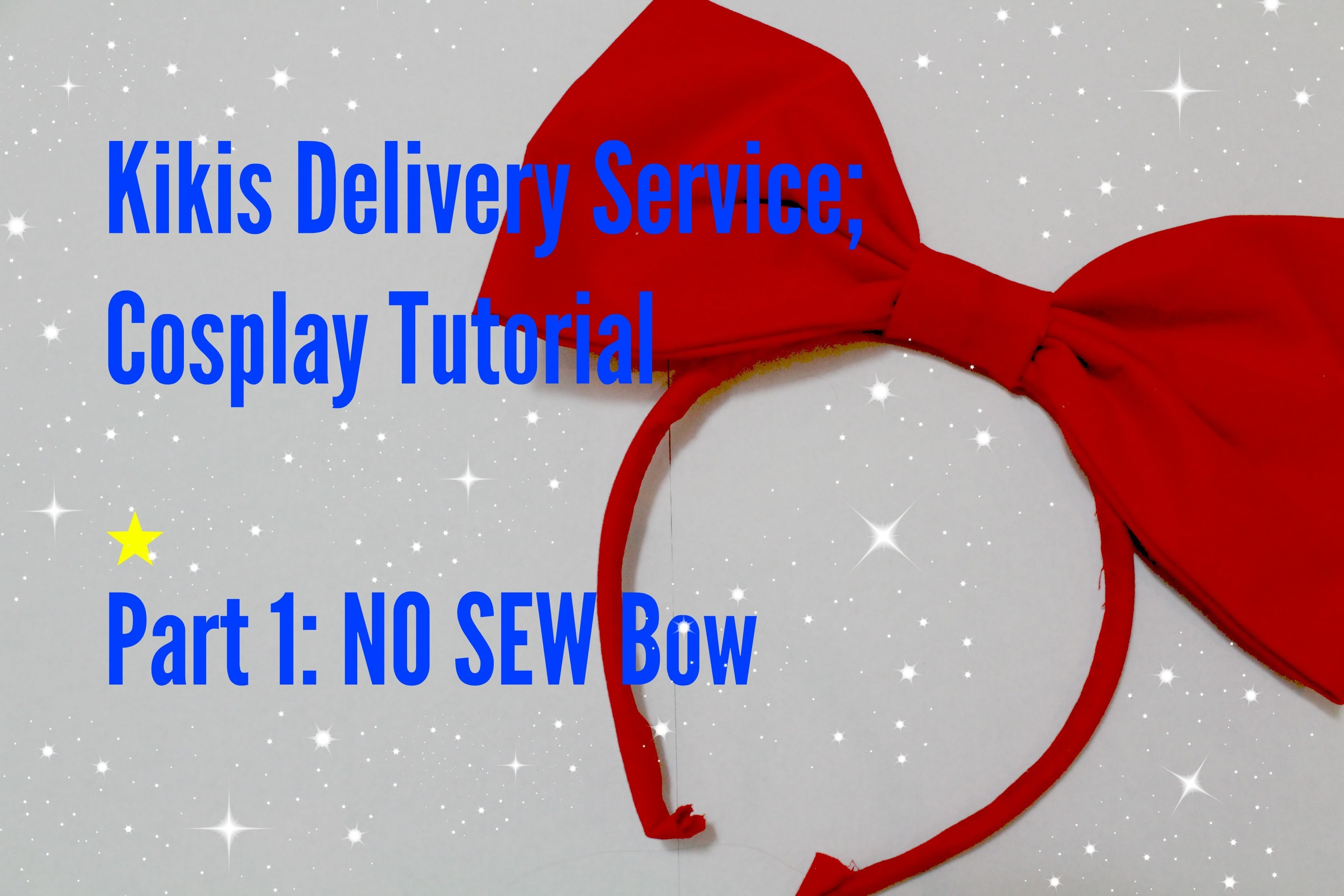 COSPLAY TUTORIAL | Kiki's Delivery Service | Part 1: The Bow | NO SEW