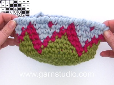 DROPS Crocheting Tutorial: Base to the Easter egg in DROPS Extra 0-1249