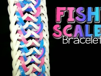 FISHY SCALES Hook Only Rainbow Loom Bracelet Tutorial