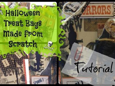 Halloween Goodie Bag Tutorial. Halloween Treat Bags Made from Scratch!