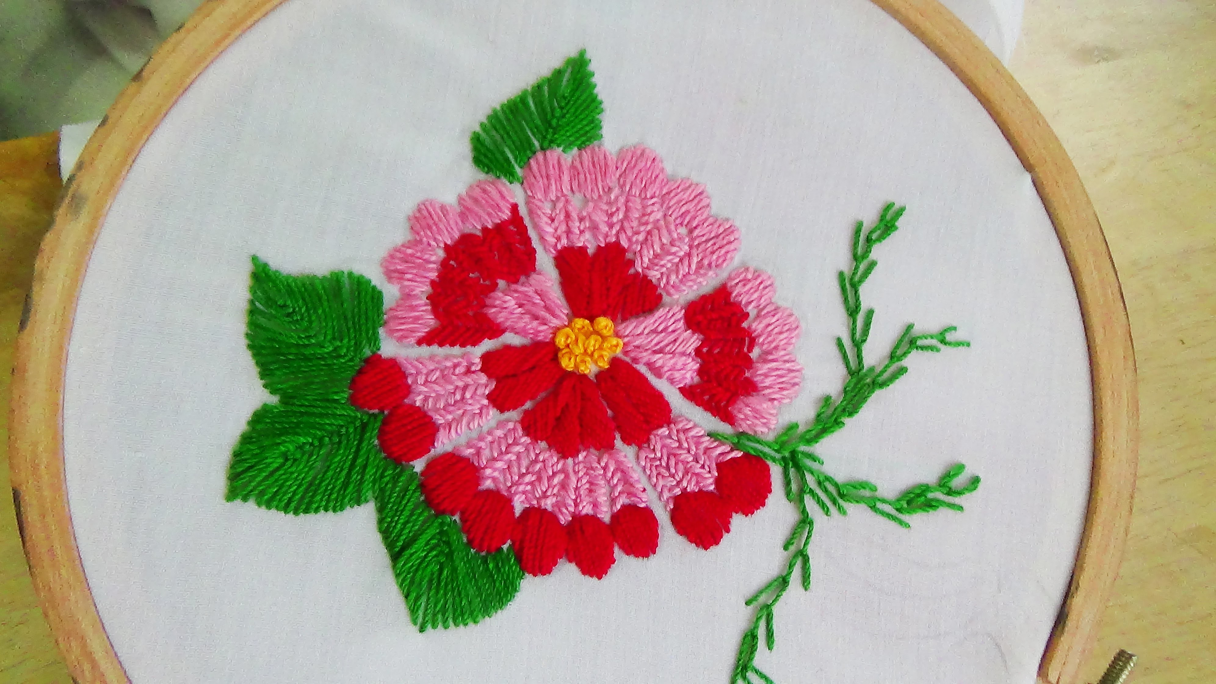 Hand Embroidery Flower Stitch Swedish Embroidery