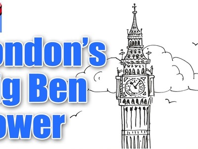 How to draw London's Big Ben Tower Real Easy