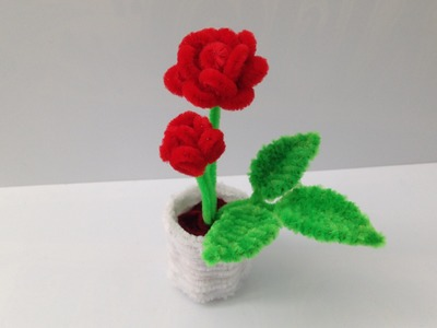 How to make a Pipe Cleaner Rose Pot 1: the Rose