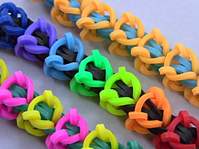 How to make beautiful bracelet with rubber bands