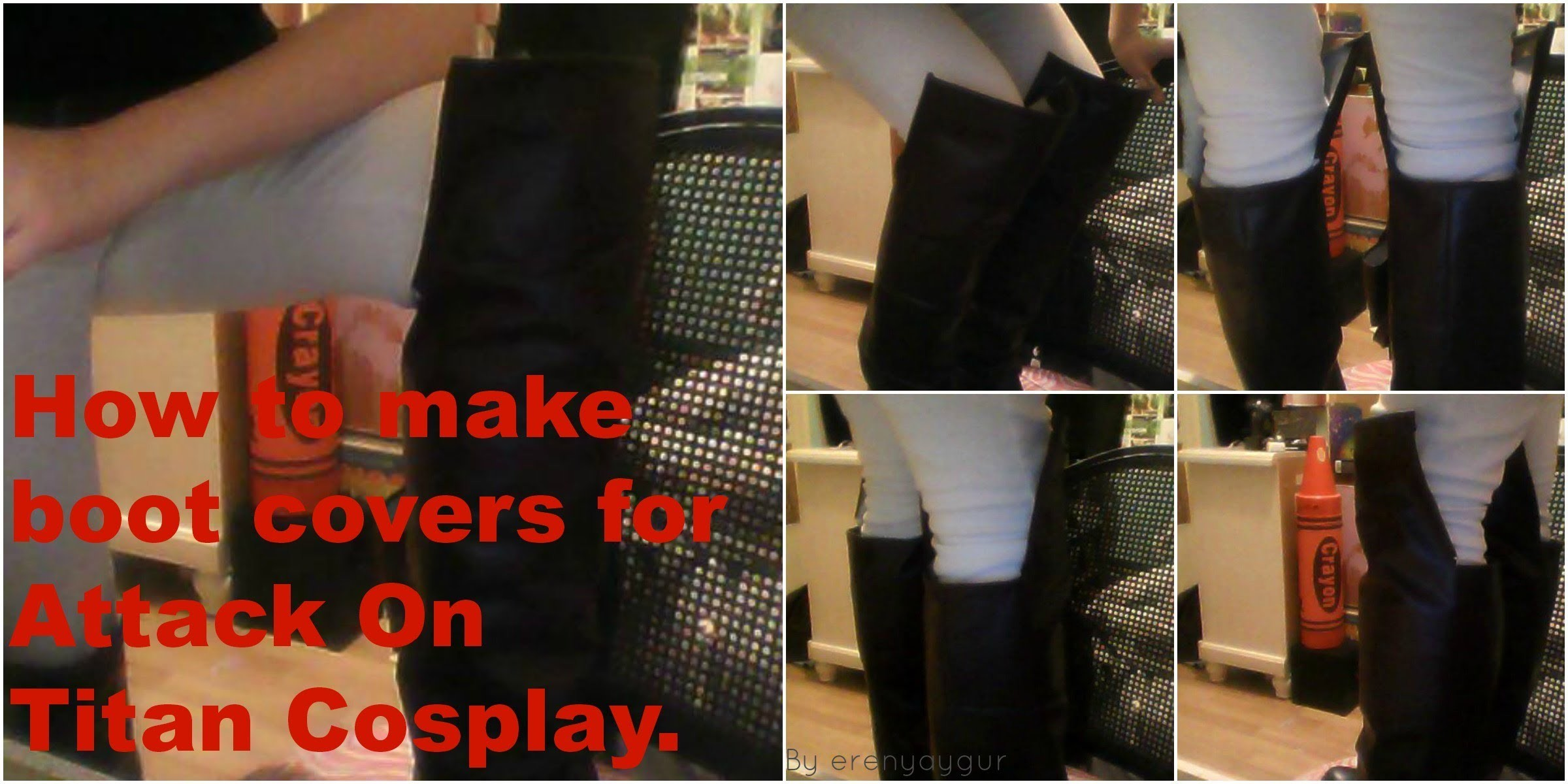 How to make boot covers for Attack On Titan Cosplay.
