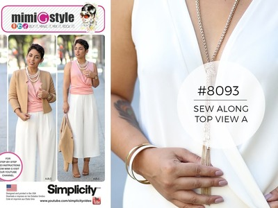 How to Sew a Top with Mimi G Simplicity 8093 - (View A)