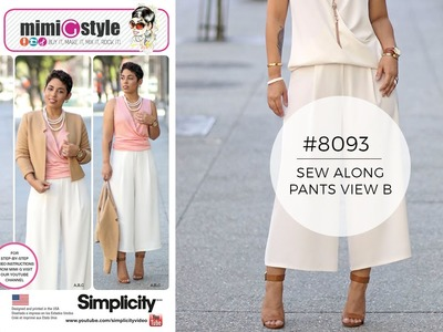 How to Sew Pants with Mimi G Simplicity 8093 (View B)