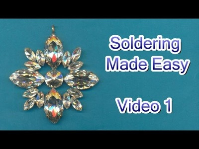 How to Solder Jewelry Video 1 - Basics