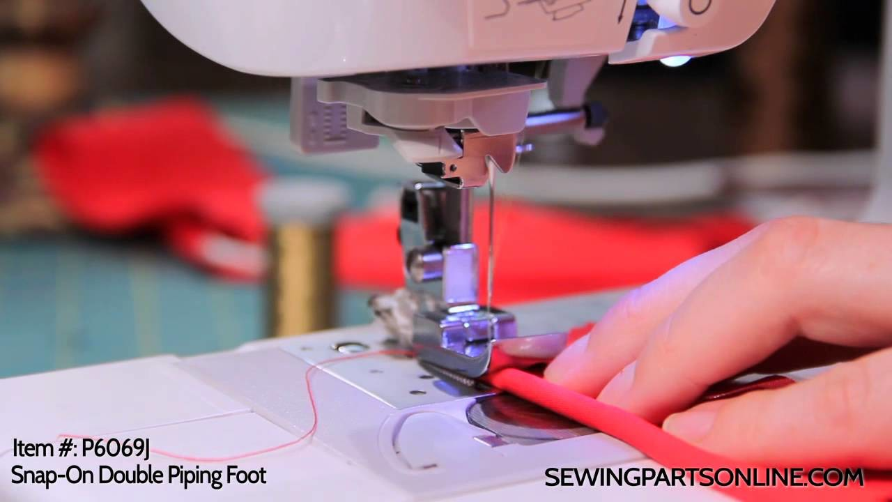 How to Use a Double Piping Foot