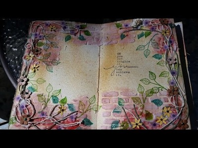 Art Garden Art Journal page with Terri Sproul