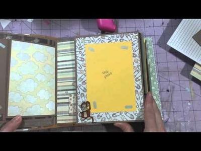 Baby mini album tutorial Part 2 - Little Safari
