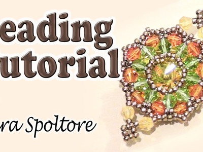 BeadsFriends: beading tutorial - How to bezel using bicones and beads