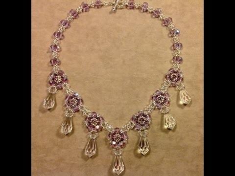 Crystal Drops Necklace Tutorial