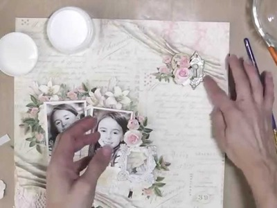 Double Photo Layout Tutorial using Graphic 45's Gilded Lily