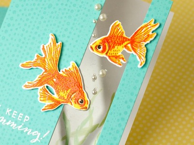 Faux Colored Heat Embossing and Window Panel Card