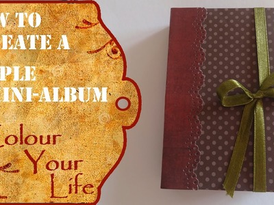 How to make a mini album from one piece of card stock - Beginners