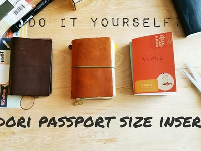 Midori Traveler's Notebook Passport Size Inserts- How To Make Your Own