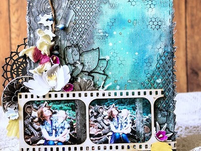 Mixed Media Canvas Video Tutorial by Evgeniya Zakharova