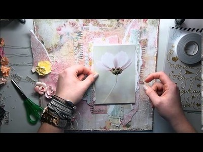 Mixed Media Scrapbooking Page TUTORIAL 'Pretty'
