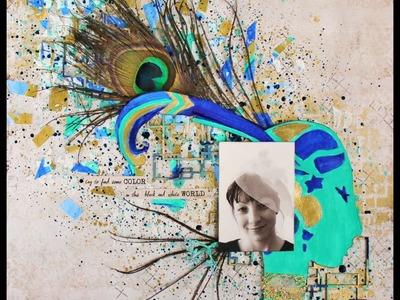 Mixed Media Tutorial with watercolor (Kuretake Gansai Tambi)