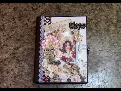 PART 3 TUTORIAL PRIMA TALES OF YOU AND ME 7 x 9  MINI ALBUM   DESIGNS BY SHELLIE