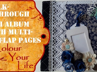 Scrapbooking Photo Album 3 Stitched Multi-Flap Album