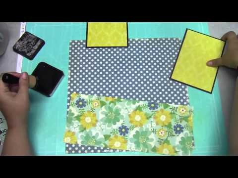 Scrapbooking Process Video 5-7 Layout System Using Phi (1.618) and Echo Park