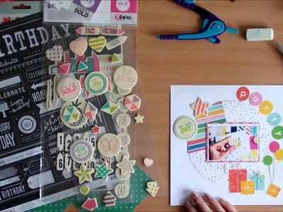 Scrapbooking process video - Birthday