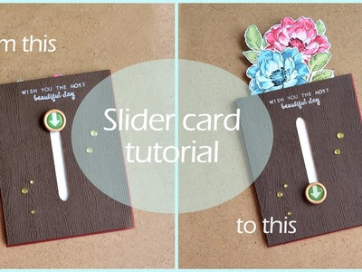 Slider card with hidden bouquet