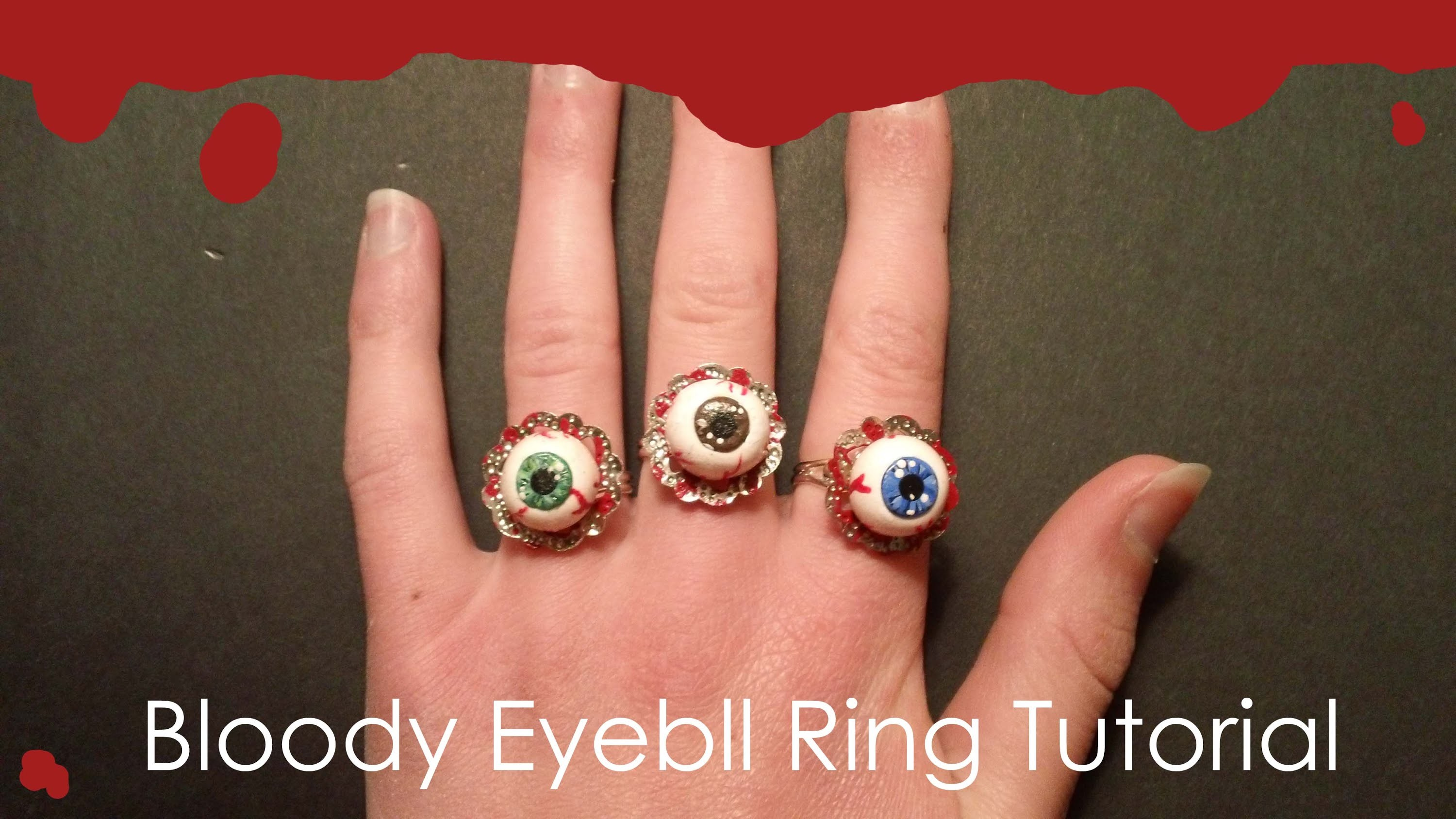 Bloody Eyeball Ring Tutorial
