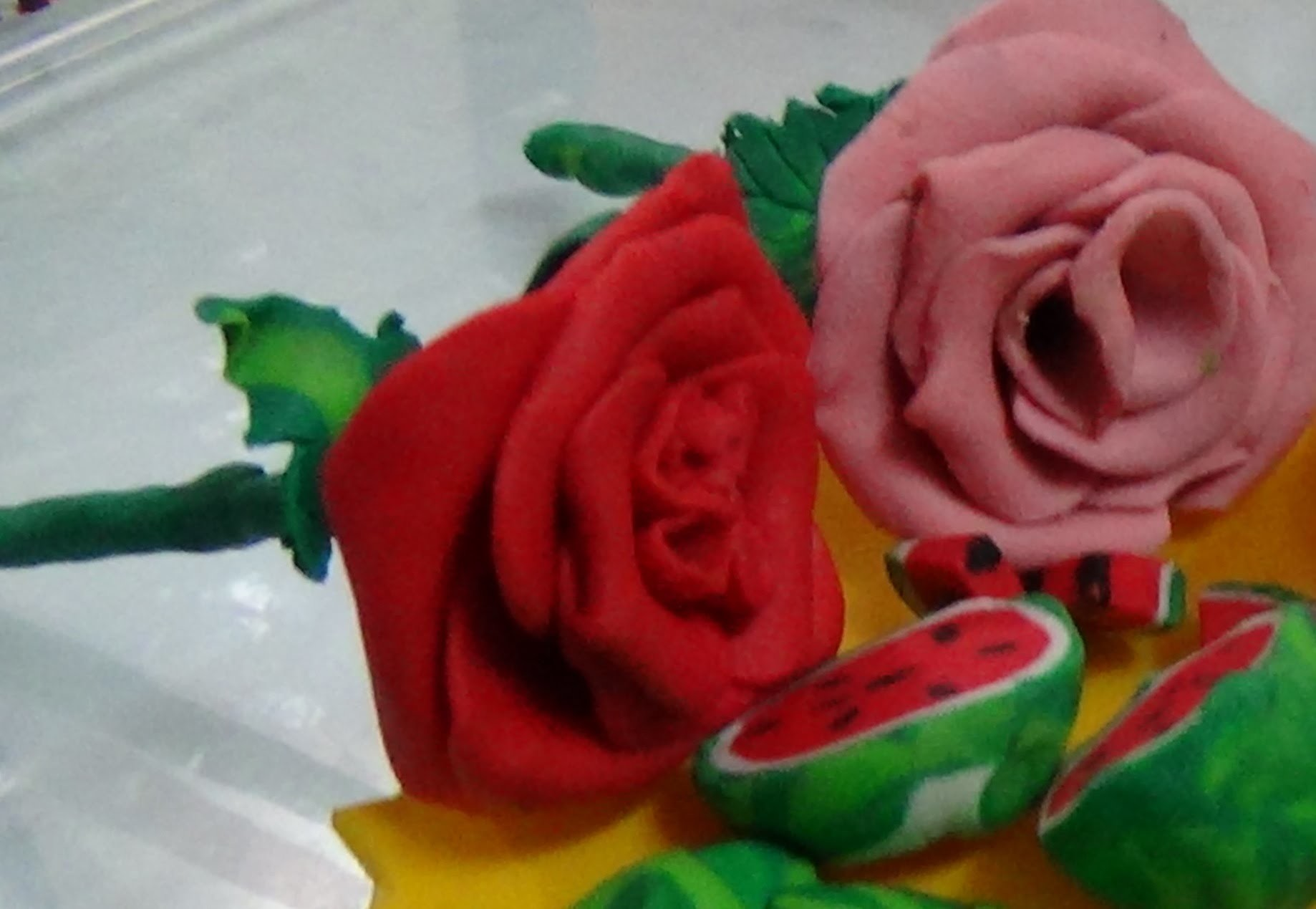 Clay Rose Making Tutorial. How To Make poymer clay Rose