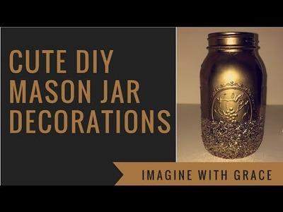 Cute DIY mason jar decorations
