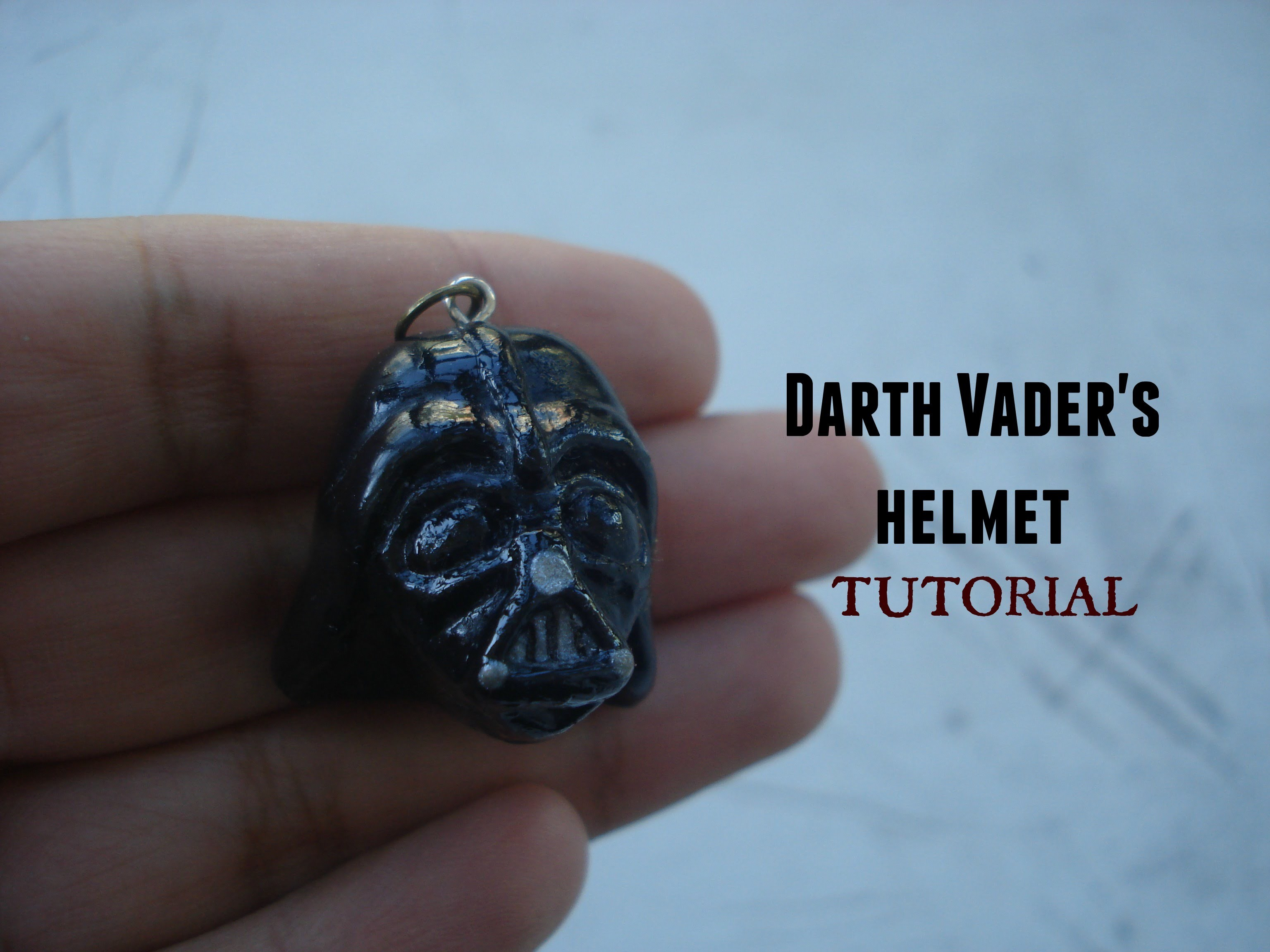 Darth Vader's helmet tutorial. polymer clay