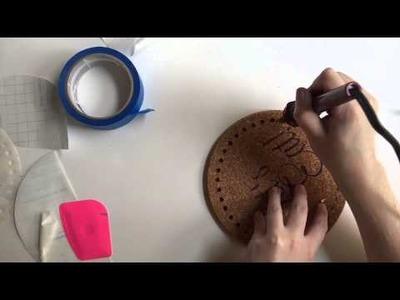 DIY Burnt IKEA Cork Trivets Time-Lapse: A Cheap & Easy Ikea Hack!
