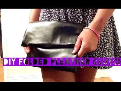 DIY Folded Pleather Clutch