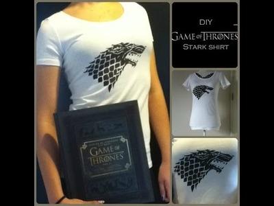 DIY Game of Thrones Stark shirt