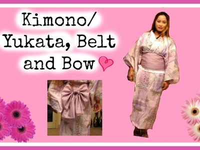 DIY: Kimono.Yukata, Belt and Bow