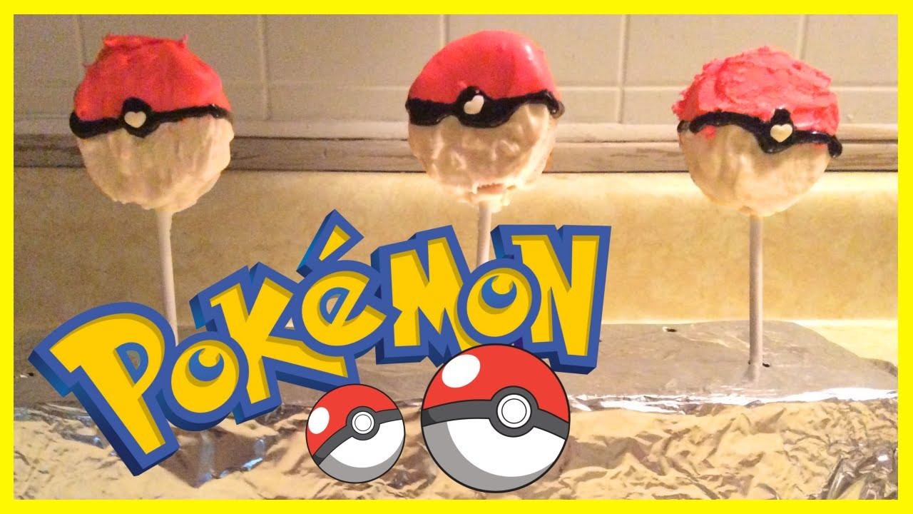 DIY OREO POKEBALL POPS!