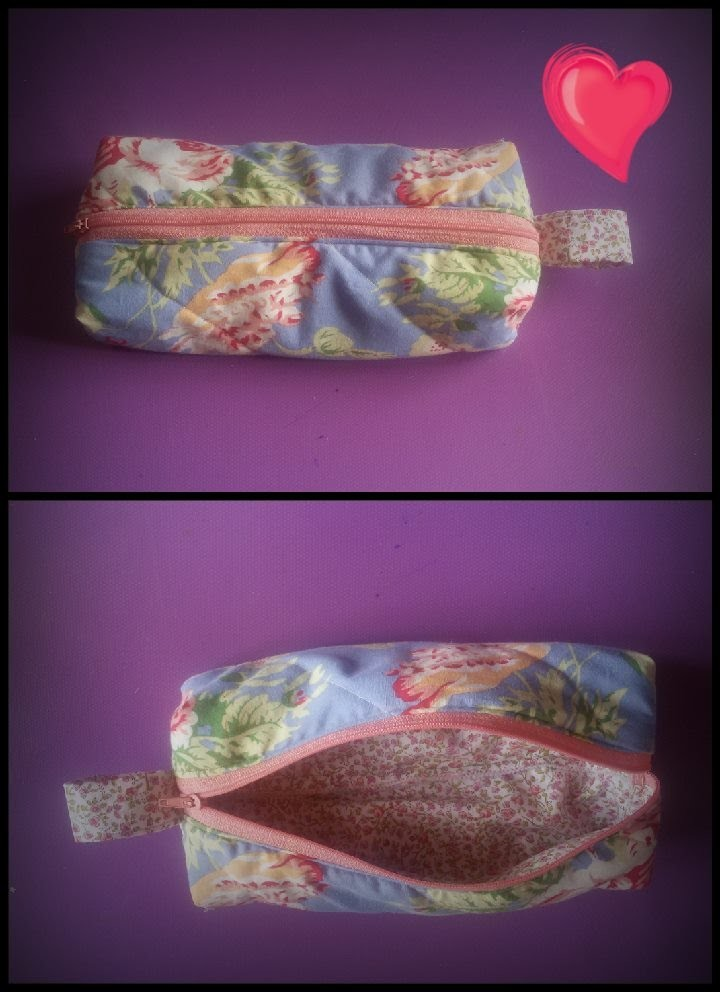 DIY petite trousse de maquillage. make up bag