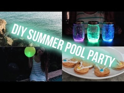 DIY SUMMER NIGHT POOL PARTY | (collab w uwodoo)