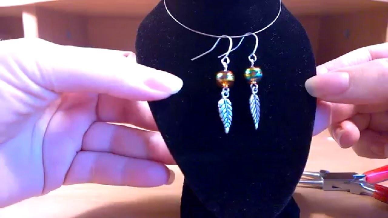 Easy earrings tutorial. Anleitung Ohrringe selber machen
