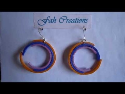 Free Form Quilling - Paper Quilling Broken Circle Earrings (Not Tutorial)