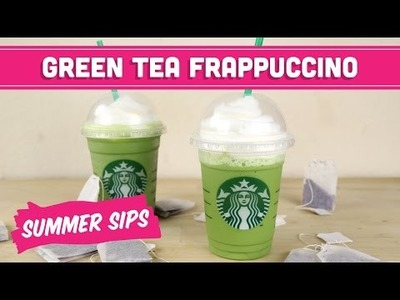 Healthy Green Tea Frappuccino (Starbucks DIY)! Summer Sips In Sixty Seconds - Mind Over Munch