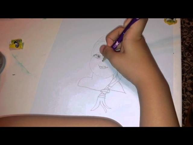 """How to draw Elsa(Frozen) tutorial"""