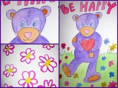 How to Draw Teddy Bear Step by Step - DIY Holiday Cards