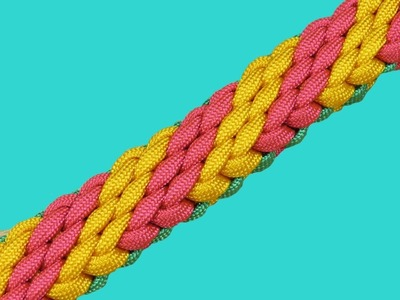 How to make a Chained Candy Falls Sinnet Paracord Bracelet Tutorial (Paracord 101)